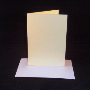 A5 Cream Greeting Card Blanks With Envelopes
